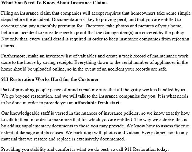 911 Restoration El Centro Insurance