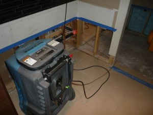 Water Damage Restoration Of New Front Room